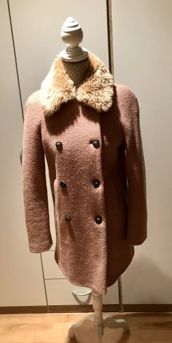 Zara Basic Manteau court vieux rose