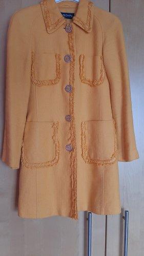 Betty Barclay Cappotto corto giallo-oro-arancione chiaro Lino