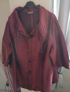 Selection by Ulla Popken Short Coat bordeaux linen