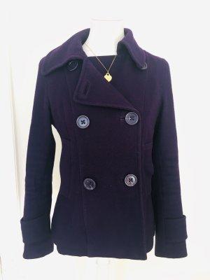 H&M Krótki płaszcz ciemny fiolet-niebiesko-fioletowy