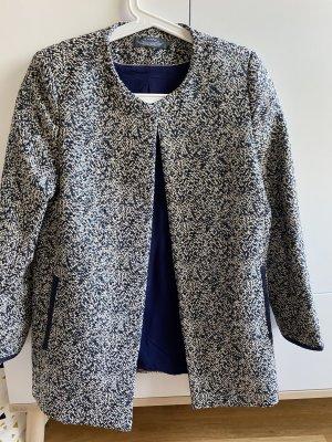 Short Coat dark blue-natural white