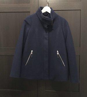 Mango Basics Manteau court bleu foncé