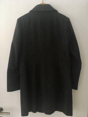Kurzmantel von Muji aus Wolle Grau/ Anthrazit S