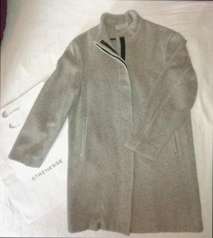 Strenesse Blue Krótki płaszcz jasnoszary-szary Moher