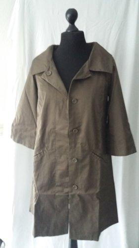 Vero Moda Long Jacket cognac-coloured polyester