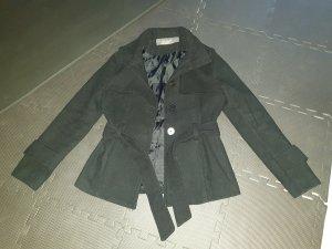 Zara Basic Cappotto corto nero Poliestere
