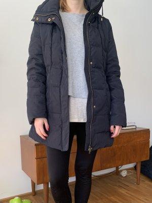 Kurzmantel Winter dunkelblau mit Kapuze M/L Zara