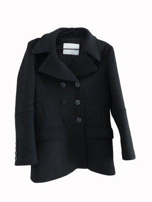 Zara Studio Krótki płaszcz czarny Wełna