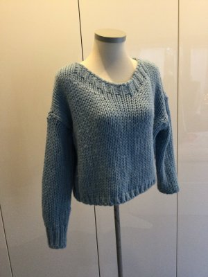BSB Collection Pull à gosses mailles bleu azur