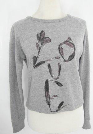 Kurzpullover Gr. S Pullover Sweater Sweatshirt grau