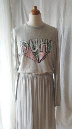 Kurzpullover/Sweatshirt mit Pailletten in L