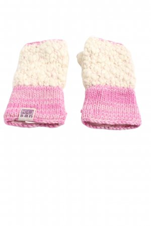 Kusan Mittens pink-natural white cable stitch casual look