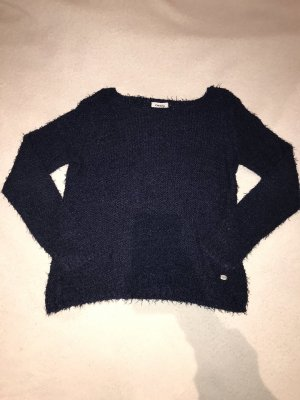 Only Crochet Sweater dark blue