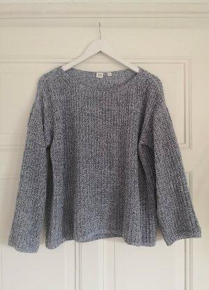 Gap Coarse Knitted Sweater azure-light grey mixture fibre