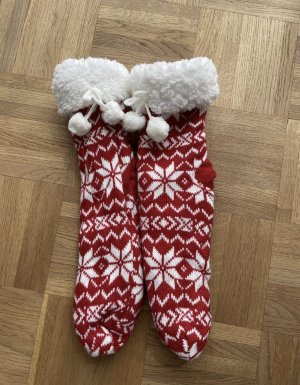 Dunnes Pyjama blanc-rouge carmin