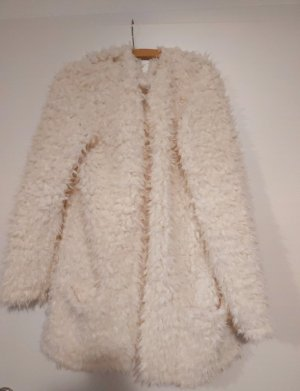 Hailys Fake Fur Vest white-cream
