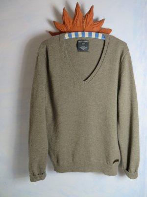 Kuschelig Braun Grau Meliert Marc O´Polo Core Pullover - Kaschmir Lambswool - L XL XXL - warm weich