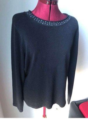 Canda Sweter z okrągłym dekoltem szary-ciemnoszary