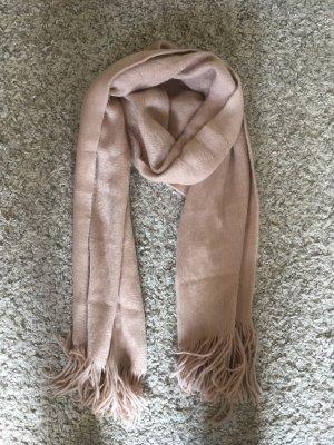 Écharpe en laine rosé-vieux rose