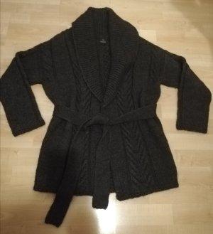 Madeleine Coarse Knitted Jacket dark grey mohair