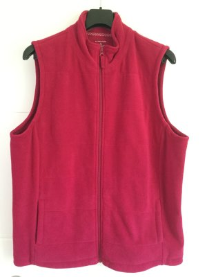 Lands' End Gilet polaire rouge fluo polyester