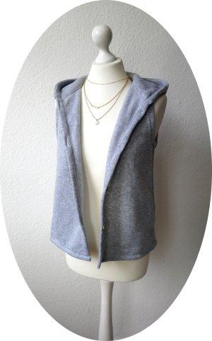 Hooded Vest light grey