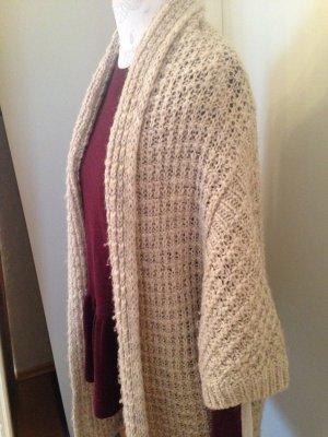 Zara Veste tricotée en grosses mailles beige