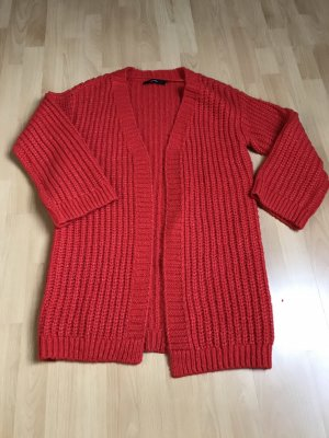 Vero Moda Coarse Knitted Jacket red