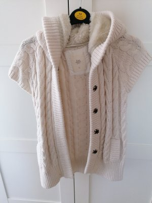 Zara Knit Coarse Knitted Jacket natural white