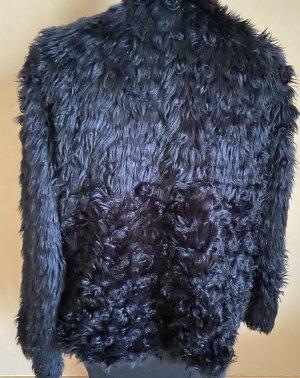 Zara Giacca in eco pelliccia blu scuro