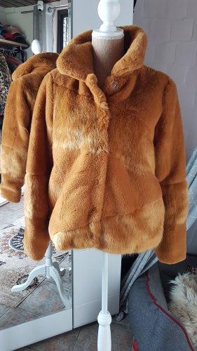 Object Giacca in eco pelliccia ocra