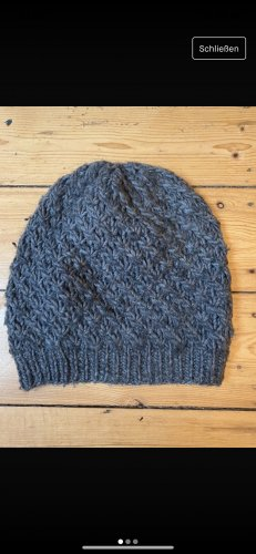 Drykorn for beautiful people Chapeau en tricot gris-gris foncé