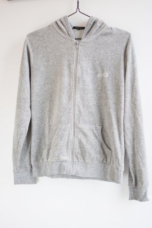 Amisu Sweat Jacket light grey mixture fibre