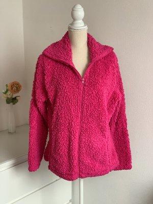 Kuschelige Pinke Teddy-Jacke von Infinity Woman Gr. XL