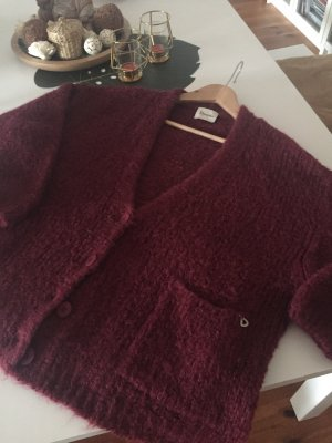 Dixie Coarse Knitted Jacket bordeaux