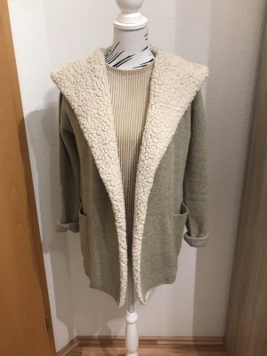 Twintip Knitted Coat natural white-oatmeal