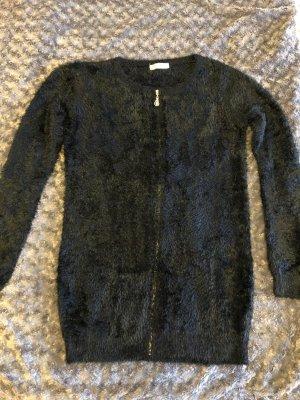 Manteau en tricot noir