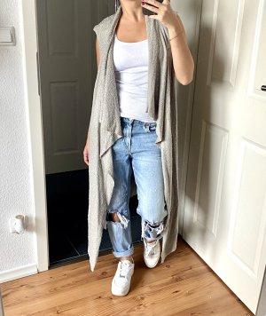 H&M Short Sleeve Knitted Jacket light grey-grey