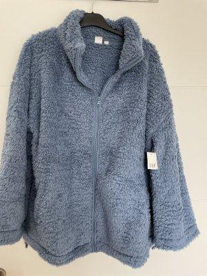Kuschelige Teddyfleece Jacke Größe L für Schwangere