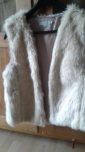 Boden Fur vest natural white mixture fibre