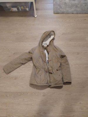 H&M Chaqueta encerada marrón claro