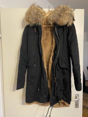 Kuschelige Winterjacke Mantel Jacke Echtfell Fell