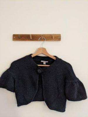 MNG SUIT Bolero lavorato a maglia nero