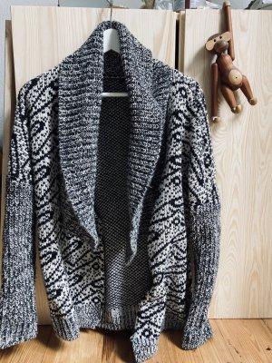 H&M Kurtka z grubej dzianiny czarny-biały