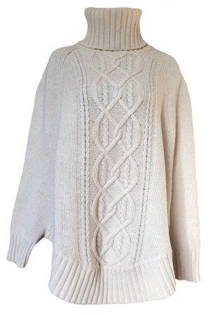 H&M L.O.G.G. Poncho en tricot crème laine