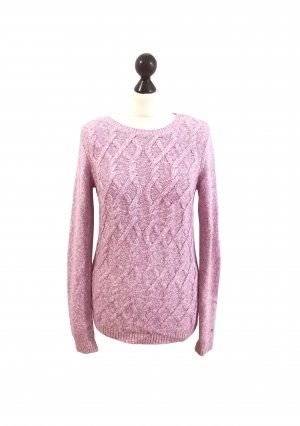 Cable Sweater white-light pink mixture fibre