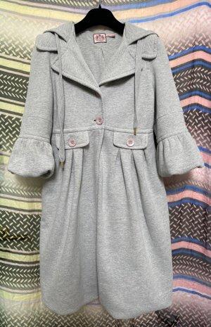 Juicy Couture Cappotto con cappuccio argento Cotone