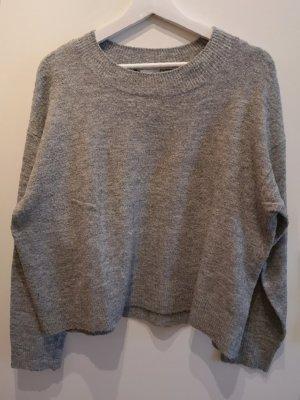 Kuscheliger H&M Pullover mit Wollanteil grau meliert, in Gr. M