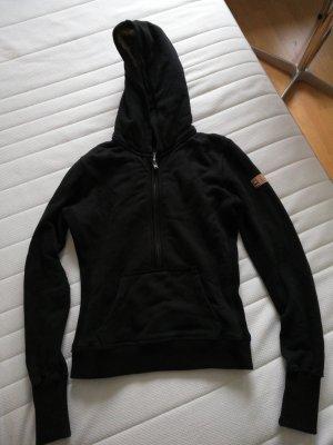 Benetton Maglione con cappuccio nero