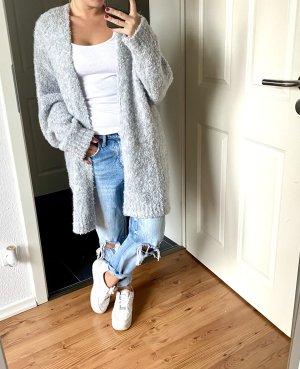Manteau en tricot gris clair-gris